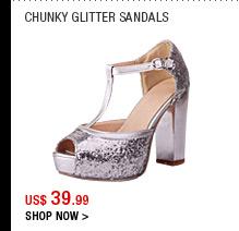 Chunky Glitter Sandals