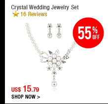 Crystal Wedding Jewelry Set
