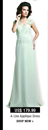 A-Line Applique Dress