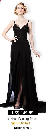 V-Neck Evening Dress