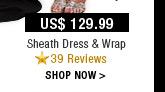 Sheath Dress & Wrap