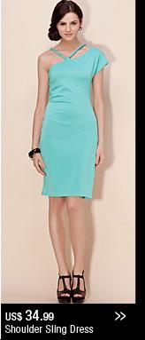 Shoulder Sling Dress