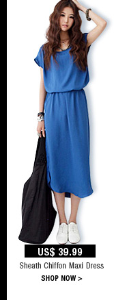 Sheath Chiffon Maxi Dress