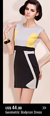 Geometric Bodycon Dress
