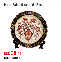 Hand-Painted Ceramic Plate