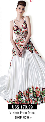 V-Neck Prom Dress