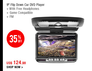 "9"" Flip Down Car DVD Player"