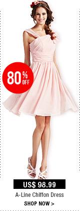 A-Line Chiffon Dress