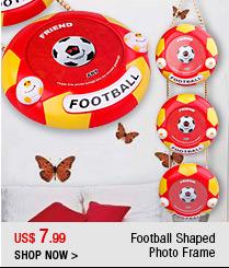Football Shaped Photo Frame
