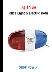 Police Light & Electric Horn