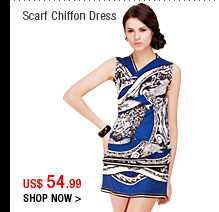 Scarf Chiffon Dress