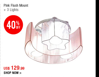 Pink Flush Mount