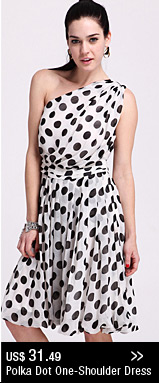 Polka Dot One-Shoulder Dress