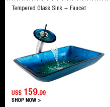 Tempered Glass Sink + Faucet
