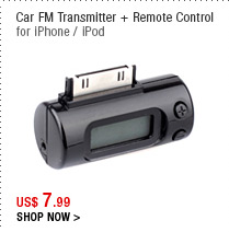 Car FM Transmitter + Remote Control