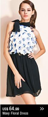 Wavy Floral Dress