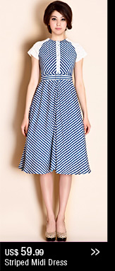 Striped Midi Dress