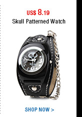 Skull Patterned Watch