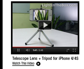 Telescope Lens + Tripod for iPhone 4/4S