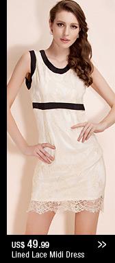 Lined Lace Midi Dress