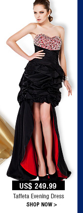 Taffeta Evening Dres