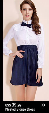 Pleated Blouse Dress