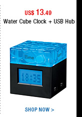 Water Cube Clock + USB Hub