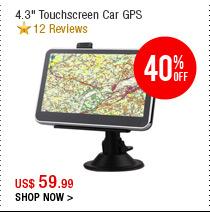 """4.3"""" Touchscreen Car GPS"""