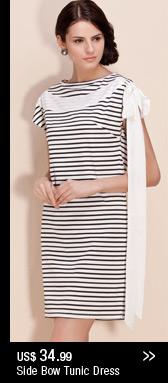 Side Bow Tunic Dress
