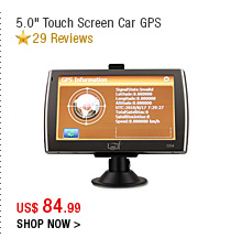 "5.0"" Touch Screen Car GPS"