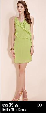 Ruffle Slim Dress
