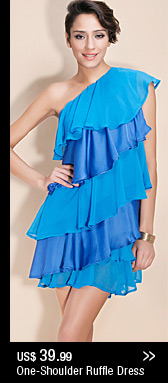One-Shoulder Ruffle Dress