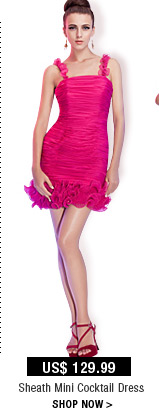 Sheath Mini Cocktail Dress