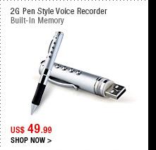 2G Pen Style Voice Recorder