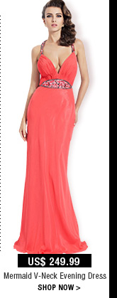 Mermaid V-Neck Evening Dress