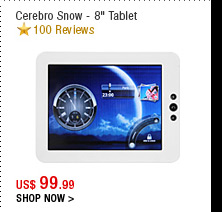 "Cerebro Snow - 8"" Tablet"