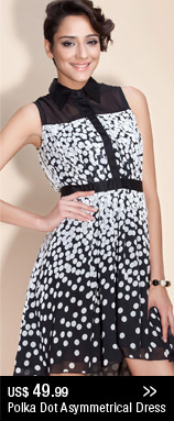 Polka Dot Asymmetrical Dress