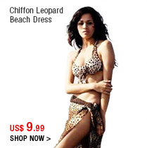 Chiffon Leopard Beach Dress
