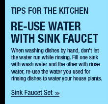 Re-use Water With Sink Faucet