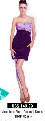 Strapless Short Cocktail Dress