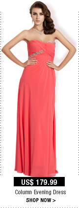 Column Evening Dress