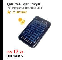 1,600mAh Solar Charger