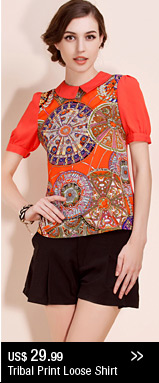 Tribal Print Loose Shirt