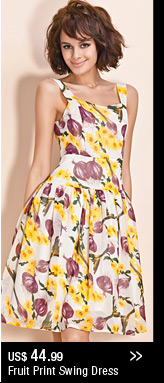 Fruit Print Swing Dress