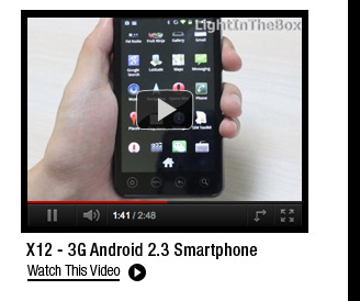 X12 - 3G Android 2.3 Smartphone