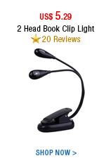 2 Head Book Clip Light