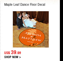 Maple Leaf Dance Floor Decal
