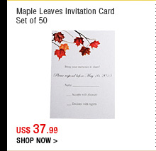 Maple Leaves Invitation Card
