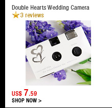 Double Hearts Wedding Camera