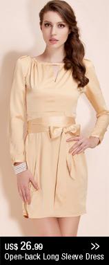 Open-back Long Sleeve Dress